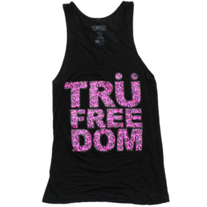 Image of Tru Freedom Unisex Tank (Black/Neon Pink) 