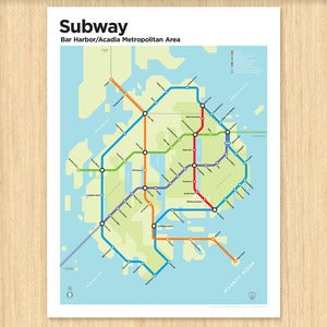 Image of Bar Harbor/Acadia National Park Subway Map