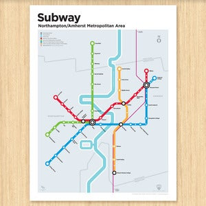 Image of Northampton/Amherst Subway Map