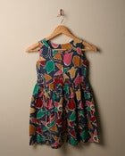 Image of c. 1970s geo floral cotton dress