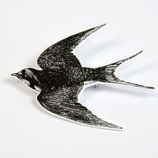 Image of BROOCH - the bird: if only i could....