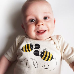 Image of Buzz Bees Short Sleeve Organic Onesie/Tee