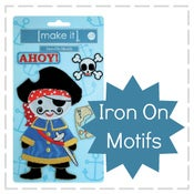 Image of Make It - Iron On Motifs - Pirate
