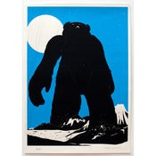 Image of 'Yeti Over Mount Fuji [cyan version]' SOLD OUT