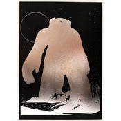Image of 'Yeti Over Mount Fuji (silver foil)' SOLD OUT