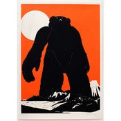 Image of 'Yeti Over Mount Fuji [tangerine version]' SOLD OUT