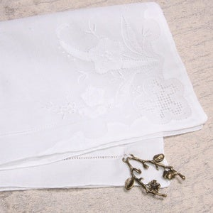 "Image of ""Something Old"" Handkerchief"