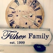 Image of Personalized Family Established Sign
