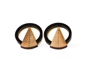 Image of Deco circle earrings