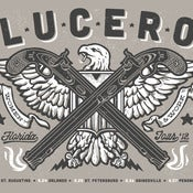 Image of LUCERO Florida Tour Black