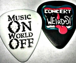 Image of RESTOCKED! Guitar Pick -Double sided Concert Weirdos