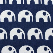 Image of Elephants on Kyoto Blue [Elephants Love Water]