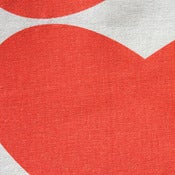 Image of Grand Hearts in Kimono Red on Natural