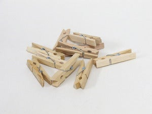 Image of Mini Wooden Clip Pegs