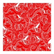 Image of SNAKE REPEAT Code Red -Screen Print