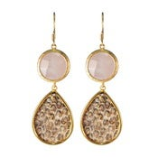Image of Kimberly Earrings-Rose Quartz