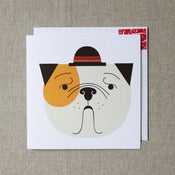 "Image of ""Sit, stay, spot of tea?"" Bulldog Card"