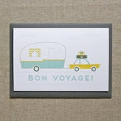 "Image of ""Retro Travels"" Bon Voyage Card"