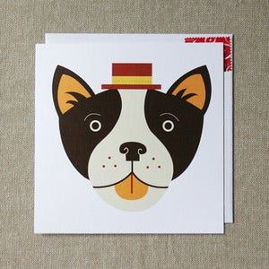"Image of ""A Pawfect Gentleman"" Boston Terrier Card"