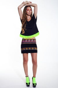 Image of Inca Mini Skirt (Black)