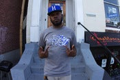 Image of GANG AFFILIATED #STOOPLIFE TEE GREY / BLUE