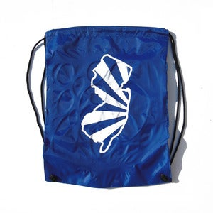 Image of Blue Cinch Bag