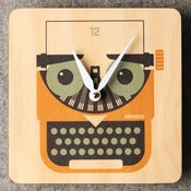 Image of Typewriter Clock