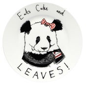 Image of 'Eats cake and Leaves' Side Plate