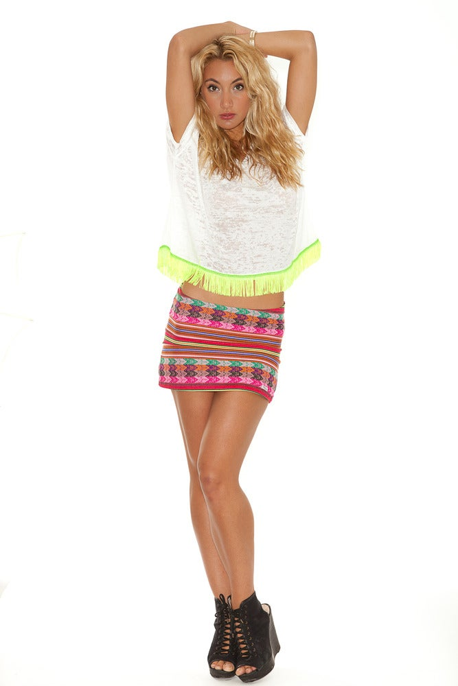 Image of Inca Mini Skirt Multi-Coloured