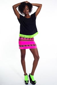 Image of Inca Mini Skirt (Hot Pink)