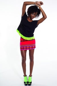 Image of Inca Mini Skirt (Blood Orange)