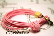 Image of Pulsera 14 Cordones Rosa