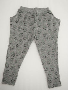 Image of Love Skull Harem Pant Grey