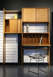 Image of MEUBLE DE RANGEMENT MODULABLE EN TECK DESIGN SCANDINAVE REF. 1050