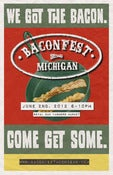 Image of Baconfest Michigan 2012 Official Poster 11x17