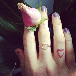 Image of Babyanything Fine Heart Ring 9ct Rose Gold