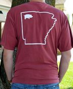 Image of Comfort Colors Red State Short Sleeve Pocket Tee