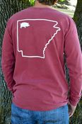 Image of Comfort Colors Red State Long Sleeve Tee