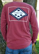 Image of Comfort Colors Red Flag Long Sleeve Tee