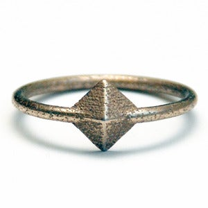 Image of Tiny Silver Pyramid Ring