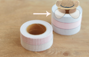 "Image of Fabric tape ""vichy rosa"""