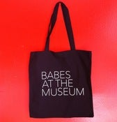 Image of Babes At The Museum Tote Bag (Black)