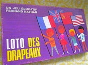 Image of Alain Grée  - 1960s French Game - Loto Des Drapeaux