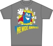Image of Mr Wide Awake T-Shirt [Grey / Washed]