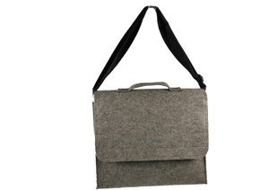 Image of nat-2 X Wolpertinger Biz Bag grey felt
