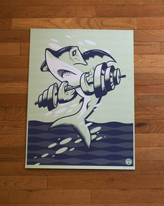 "Image of ""The Sea is No Place for Shrimps"" Screen Print"