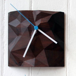 "Image of Walnut 6"" X 6"" Block Clock"