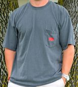 Image of Comfort Colors Pepper Grey Classic Pig Pocket Tee