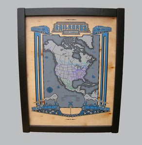 Image of Railroads of N.A. - framed