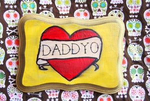 Image of Daddyo Heart Tattoo Plaque perfect for Father's Day!